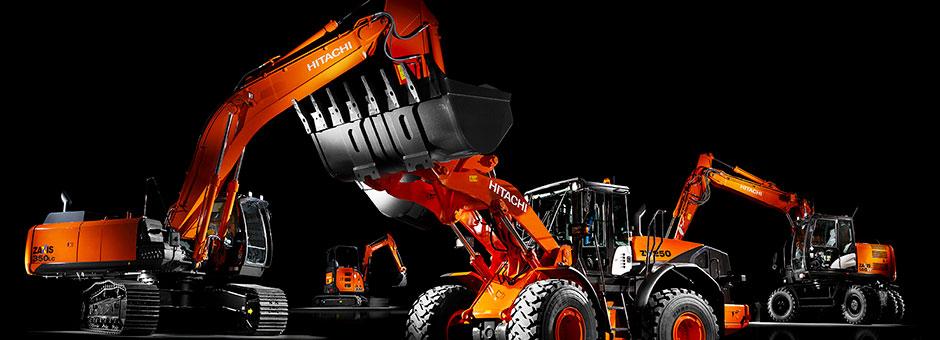 Jsme oficiální importér stavebních strojů HITACHI pro Českou republiku